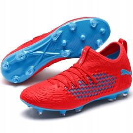 Buty piłkarskie Puma Future 19.3 Netfit Fg Ag czerwono-niebieskie 105539 01 czerwone czerwone 4