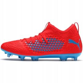 Buty piłkarskie Puma Future 19.3 Netfit Fg Ag czerwono-niebieskie 105539 01 czerwone czerwone 1