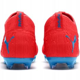 Buty piłkarskie Puma Future 19.3 Netfit Fg Ag czerwono-niebieskie 105539 01 czerwone czerwone 3