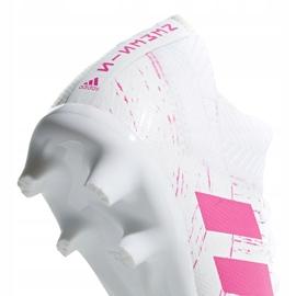 Buty piłkarskie adidas Nemeziz 18.3 Fg Jr CM8506 wielokolorowe białe 5