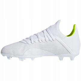 Buty piłkarskie adidas X 18.3 Fg Jr BB9372 białe wielokolorowe 2