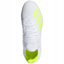Buty piłkarskie adidas X 18.3 Fg Jr BB9372 białe wielokolorowe 1