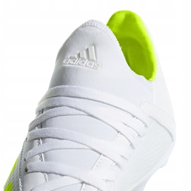 Buty piłkarskie adidas X 18.3 Fg Jr BB9372 białe wielokolorowe 6