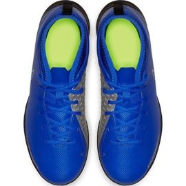 Buty piłkarskie Nike Phantom Vsn Club Df Tf Jr AO3294 400 niebieskie wielokolorowe 1