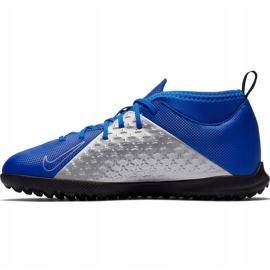 Buty piłkarskie Nike Phantom Vsn Club Df Tf Jr AO3294 400 niebieskie wielokolorowe 2