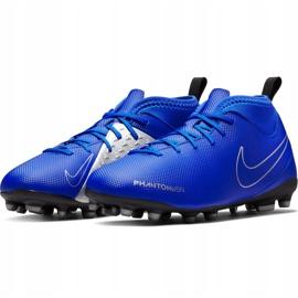 Buty piłkarskie Nike Phantom Vsn Club Df Fg Mg Jr AO3288 400 niebieskie wielokolorowe 3