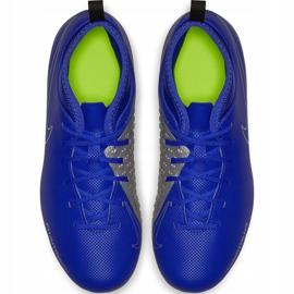 Buty piłkarskie Nike Phantom Vsn Club Df Fg Mg Jr AO3288 400 niebieskie wielokolorowe 1