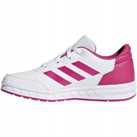 Buty dla dzieci adidas AltaSport K biało różowe D96870 białe 1