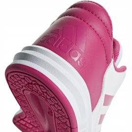 Buty dla dzieci adidas AltaSport K biało różowe D96870 białe 4