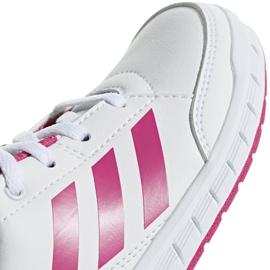 Buty dla dzieci adidas AltaSport K biało różowe D96870 białe 3