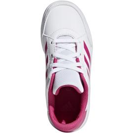 Buty dla dzieci adidas AltaSport K biało różowe D96870 białe 2