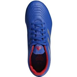 Buty piłkarskie adidas Predator 19.4 Tf Jr niebieskie CM8556 wielokolorowe 2
