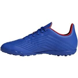 Buty piłkarskie adidas Predator 19.4 Tf Jr niebieskie CM8556 wielokolorowe 1