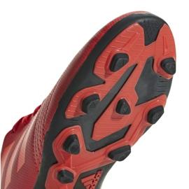 Buty piłkarskie adidas Predator 19.4 FxG Jr CM8541 czerwone wielokolorowe 4