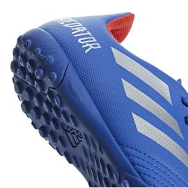 Buty piłkarskie adidas Predator 19.4 Tf Jr niebieskie CM8556 wielokolorowe 4