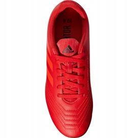 Buty piłkarskie adidas Predator 19.4 FxG Jr CM8541 czerwone wielokolorowe 2
