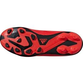 Buty piłkarskie adidas Predator 19.4 FxG Jr CM8541 czerwone wielokolorowe 6