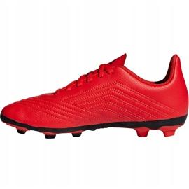 Buty piłkarskie adidas Predator 19.4 FxG Jr CM8541 czerwone wielokolorowe 1