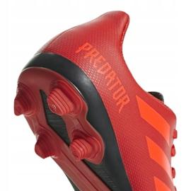 Buty piłkarskie adidas Predator 19.4 FxG Jr CM8541 czerwone wielokolorowe 5