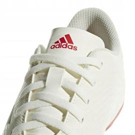 Buty piłkarskie adidas Nemeziz 18.4 FxG Jr CM8510 białe wielokolorowe 4