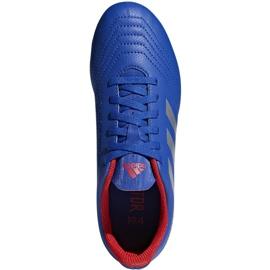 Buty piłkarskie adidas Predator 19.4 FxG Jr niebieskie CM8540 wielokolorowe 2