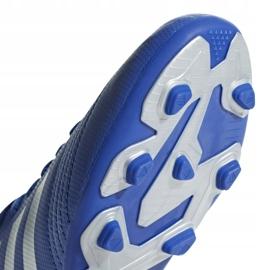 Buty piłkarskie adidas Predator 19.4 FxG Jr niebieskie CM8540 wielokolorowe 5