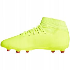 Buty piłkarskie adidas Nemeziz 18.3 Fg Jr żółte CM8505 2