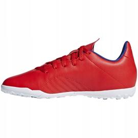 Buty piłkarskie adidas X 18.4 Tf Jr czerwone BB9417 wielokolorowe 2
