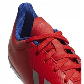 Buty piłkarskie adidas X 18.4 Tf Jr czerwone BB9417 wielokolorowe 4
