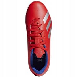 Buty piłkarskie adidas X 18.4 Tf Jr czerwone BB9417 wielokolorowe 1