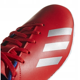Buty piłkarskie adidas X 18.4 Tf Jr czerwone BB9417 wielokolorowe 3