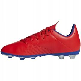 Buty piłkarskie adidas X 18.4 FxG Jr czerwone BB9379 wielokolorowe 2