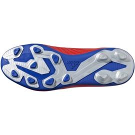 Buty piłkarskie adidas X 18.4 FxG Jr czerwone BB9379 wielokolorowe 6