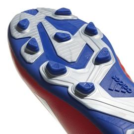Buty piłkarskie adidas X 18.4 FxG Jr czerwone BB9379 wielokolorowe 5