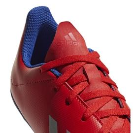 Buty piłkarskie adidas X 18.4 FxG Jr czerwone BB9379 wielokolorowe 4
