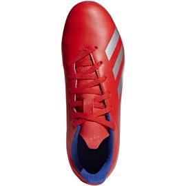 Buty piłkarskie adidas X 18.4 FxG Jr czerwone BB9379 wielokolorowe 1