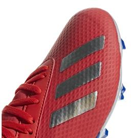 Buty piłkarskie adidas X 18.3 Fg Jr czerwone BB9371 wielokolorowe 3