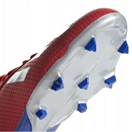 Buty piłkarskie adidas X 18.3 Fg Jr czerwone BB9371 wielokolorowe 5