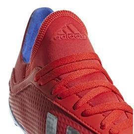 Buty piłkarskie adidas X 18.3 Fg Jr czerwone BB9371 wielokolorowe 4