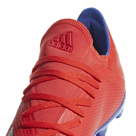 Buty piłkarskie adidas X 18.3 Fg czerwone BB9367 wielokolorowe 3