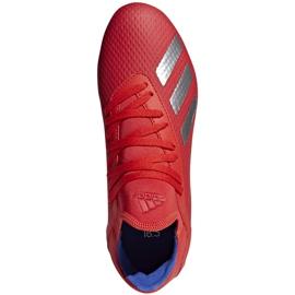 Buty piłkarskie adidas X 18.3 Fg Jr czerwone BB9371 wielokolorowe 1