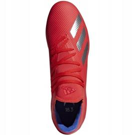 Buty piłkarskie adidas X 18.3 Fg czerwone BB9367 wielokolorowe 1