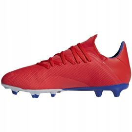 Buty piłkarskie adidas X 18.3 Fg czerwone BB9367 wielokolorowe 2
