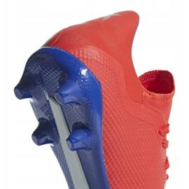 Buty piłkarskie adidas X 18.3 Fg czerwone BB9367 wielokolorowe 4