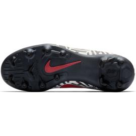 Buty piłkarskie Mercurial Nike Neymar Vapor 12 Club Fg Jr AV4762 170 wielokolorowe białe 6