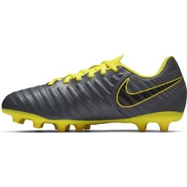 Buty piłkarskie Nike Tiempo Legend 7 Club Mg Jr AO2300 070 szare czarne 1