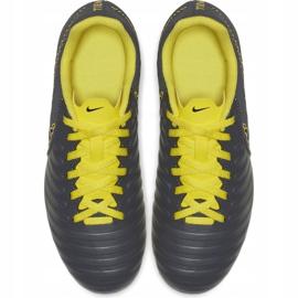 Buty piłkarskie Nike Tiempo Legend 7 Club Mg Jr AO2300 070 szare czarne 2