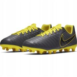 Buty piłkarskie Nike Tiempo Legend 7 Club Mg Jr AO2300 070 szare czarne 5