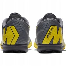 Buty piłkarskie Nike Mercurial Vapor X 12 Academy Tf AH7384 070 szare czarne 6