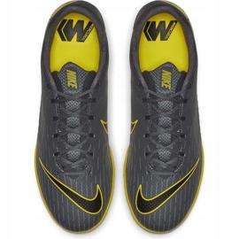 Buty piłkarskie Nike Mercurial Vapor X 12 Academy Tf AH7384 070 szare czarne 2